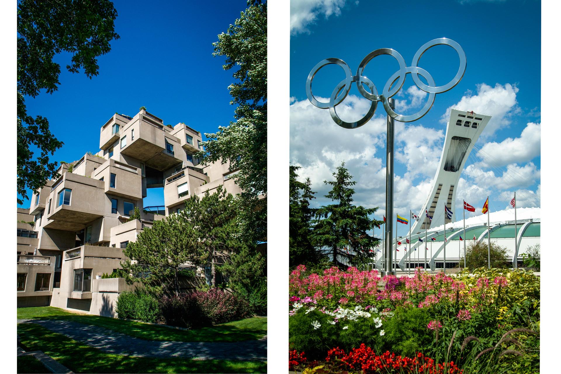 Habitat 67 et Stade Olympique