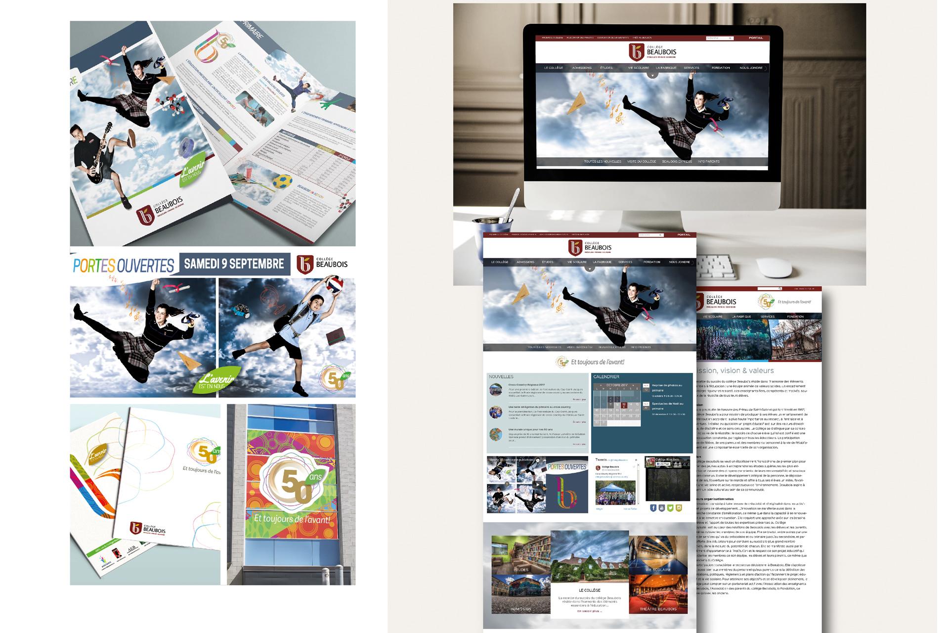 Campagne de publicité Collège Beaubois